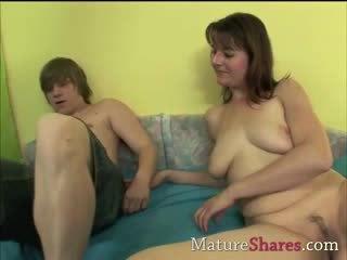 Babe boy seduced by old milf