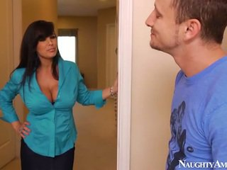 brunette, blowjob, big tits, naughty america, heels, pornstar