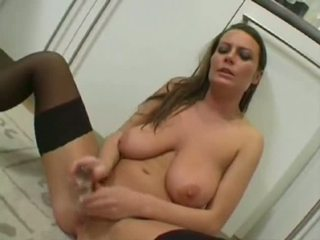 Alexis in hot solo action