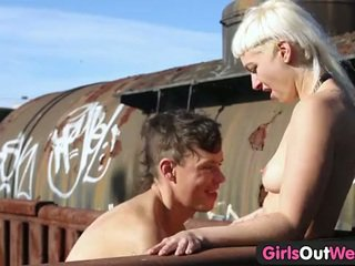Girls Out West - Hairy blonde fucked o...