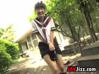 Japanisch schoolgirls flashing schlüpfer