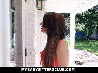 MyBabySittersClub - Petite Baby Sitter Fucked On New Years