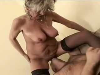 Hot Granny Alena Sits On Face And Takes A Big One