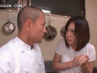 जापानी, बच्चा, creampie