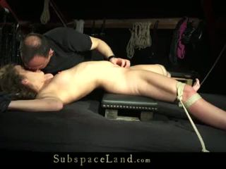Teeny girl tied up on the bad and fuck...