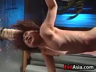 Aziāti palaistuve gets karstās wax par viņai