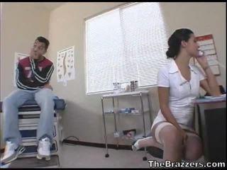 Secy Nurse Treats Her Patient
