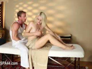 grote borsten, massage, blond