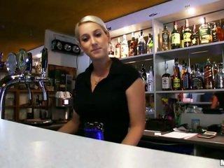 Barmaid lenka pounded ar a stranger