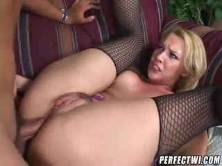 Fishnets Blonde Booty Fucked!