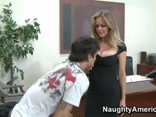 Lớn breasted mẹ id như đến quái bé trong vớ văn phòng fucking