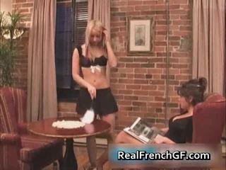 Adembenemend frans girlfriends licking
