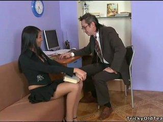 Delightful anaal seks met leraar