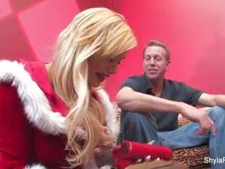 Een merry kerstmis creampie met shyla stylez