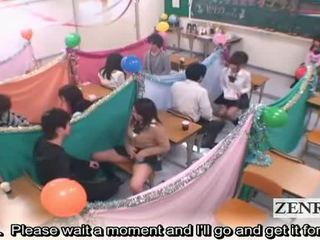 Subtitled japan schoolgirls klasserom masturbation cafe