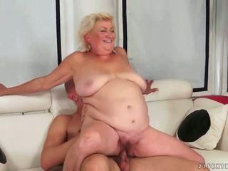 régi, nagymama, blowjob