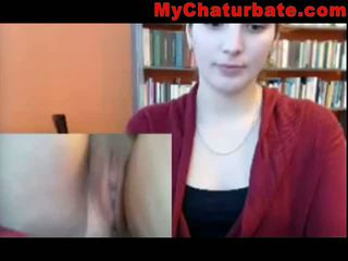 Another Masturbator in the Library on webcam leak
