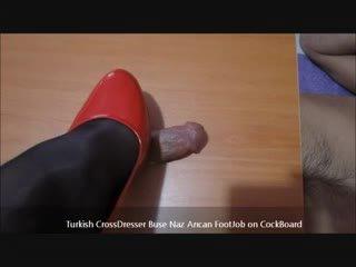 التركية buse naz arican - القدم الوظيفة في cockboard