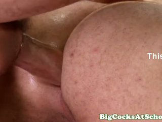 Well hung college hunk butt drilling