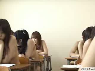 Japonské schoolgirls všetko ísť nahý v školské