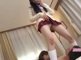 Bonita seductive coreana chica follando