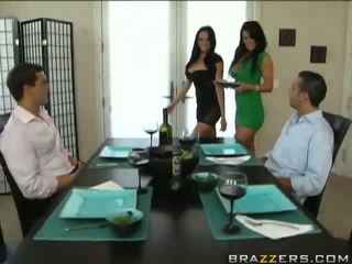 quality brunettes fucking, check foursome, hot fuck