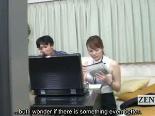 Subtitled japonais sexe jouet femme habillée homme nu measuring via pipe