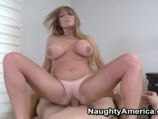 Busty Blonde Chick Liking Her Mouth Fu...