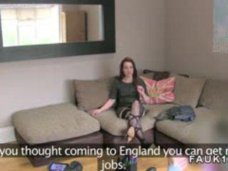 Sexy amsterdam stripper banged in brits casting