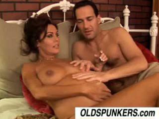 cumshots, grote borsten, brunettes