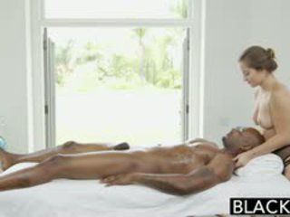 brunette, full blowjob quality, great interracial see