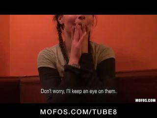 Pretty Czech student is picked up in a coffee shop & paid to fuck