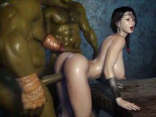 2 geants baisent une jolie fille, Libre pornograpya 3c
