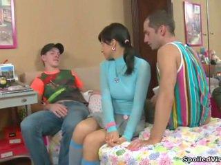 Virgin having 3 adam sikiş