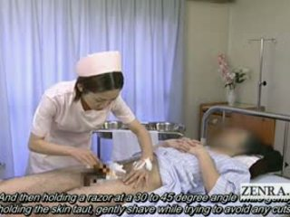 Subtitled Medical CFNM Handjob Cumshot...