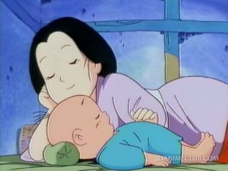 Kåt anime mann nailing hardt hans wifes fitte