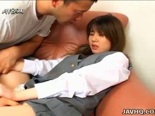 Japanese school girl Ami Matsuda blowjob and