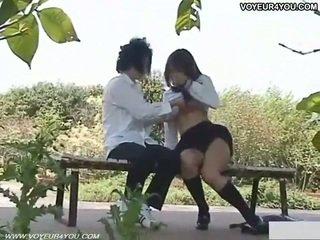 Vilain écolière dehors sexe filmed