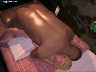 Blonde Animated Teenie Sucking Old Fat Dick