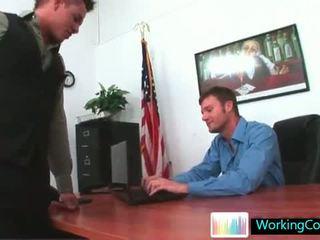 Kirk having hot gay porn treesome