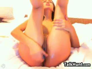brunete, rotaļlietas, webcam