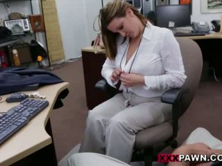 Booby üzleti hölgy banged által pawn dude