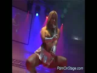 Porn on stage stripper dildo