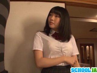 Satomi appreciates 큰 긴 pork dagger
