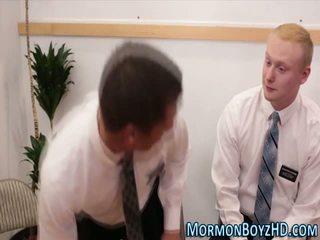 Gay mormon gets creampie