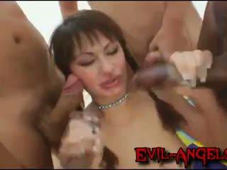 Kid জ্যামাইকা - anita hengher brutally double পায়ুপথ gangbanged দ্বারা অতিকায় cocks