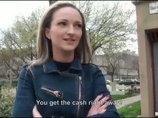 Tight Eurobabe Melanie fucked for money