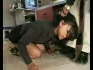 Stupid employee brutally destroyed av frustrated basar