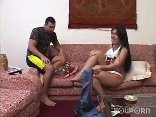 迪克 之间 她的 腿 是 一 惊 为 这 guy