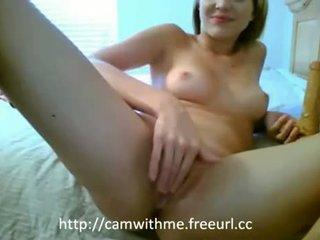 Amatuer amateru tonårs blondin tonårs masturberar med
